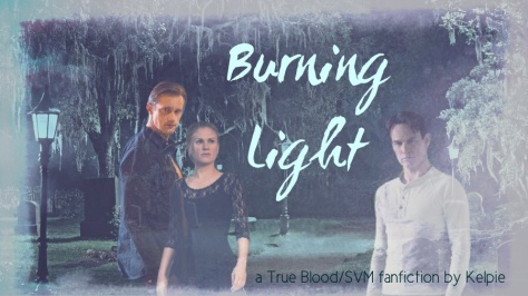 Burning light banner