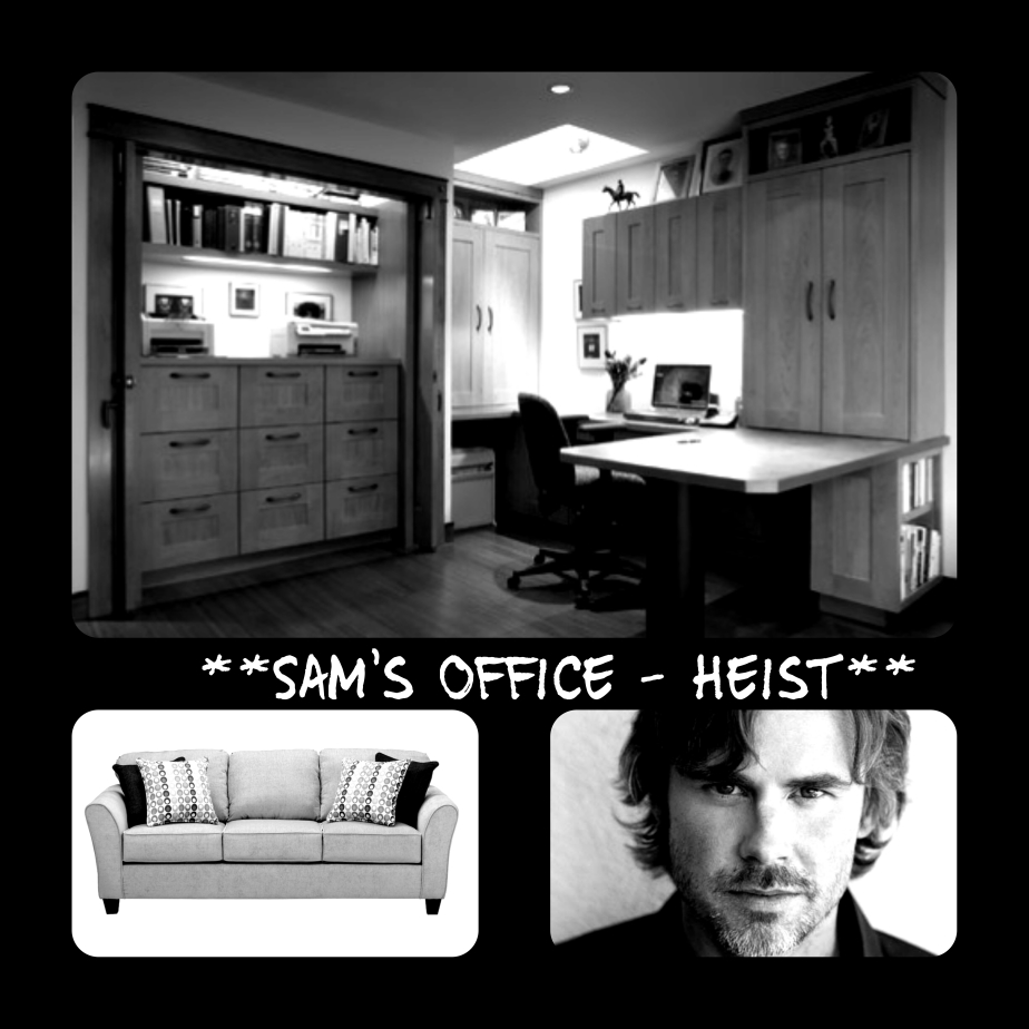 Behind the camera sams office